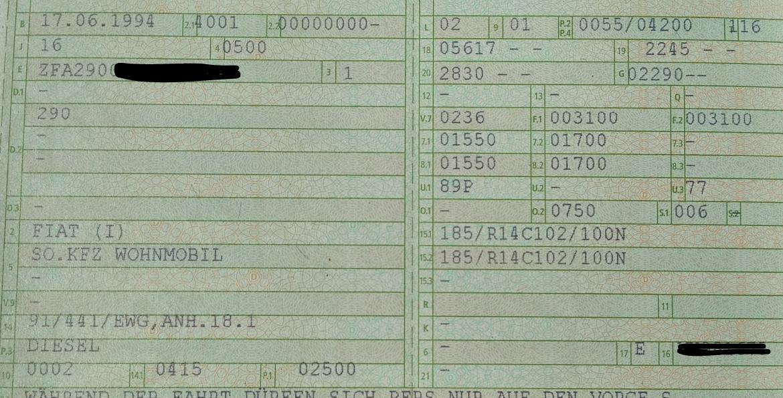 herstellernummer fahrzeugschein